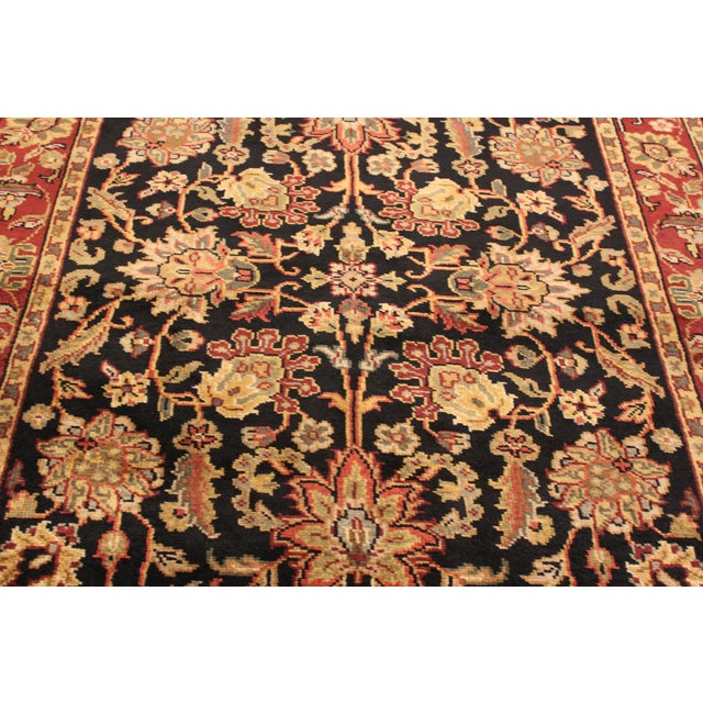 """Hand-Knotted Kashan Wool Rug - 5'1"""" X 7'10"""" - Image 4 of 5"""