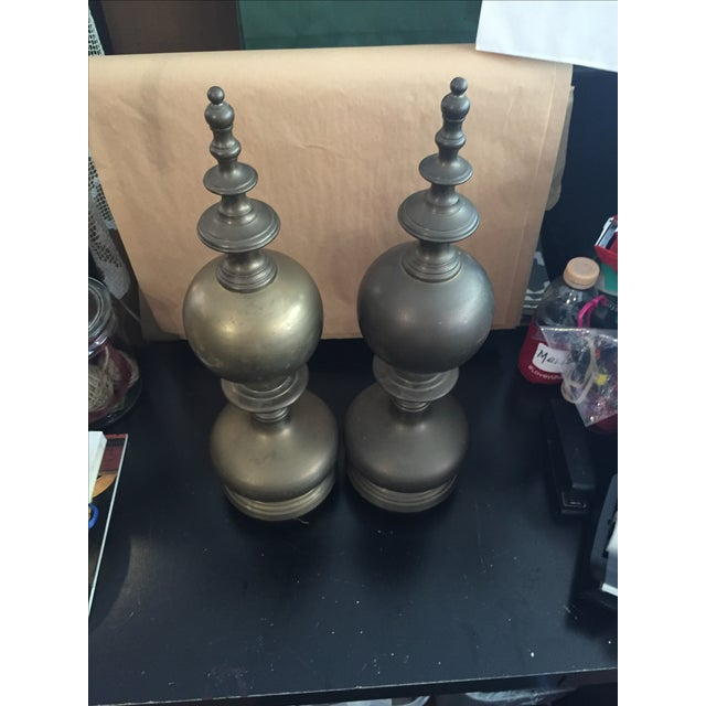 Image of Maitland Smith Co. Brass Sculptures - Pair