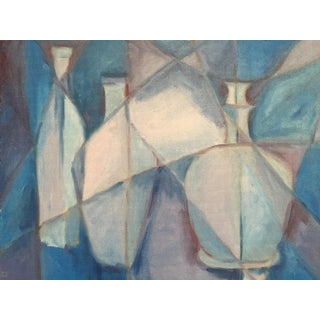 1950's Cubist Bottles Clifford Holmes Painting