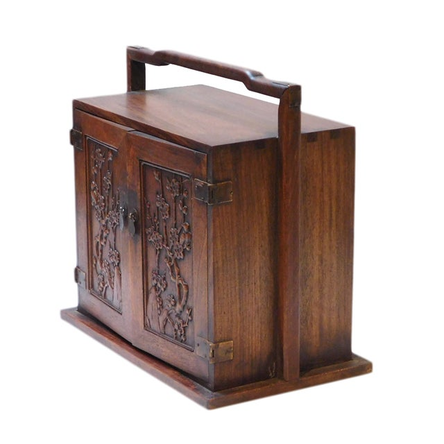 Chinese Rosewood Jewelry Box - Image 3 of 6