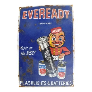 Antique Enamel Ever Ready Sign