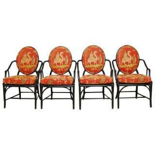 McGuire Chippendale Bamboo Armchairs - Set of 4