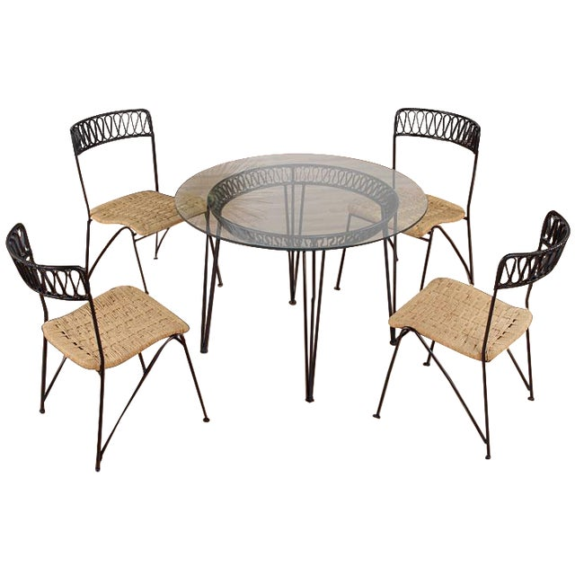 Restored Mid-Century Salterini Ribbon Patio Set - Image 1 of 9