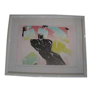Peter Max, the Dancer Limited Edition Lithograph 1982