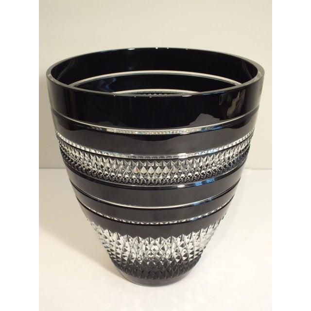 John Rocha Black Voya Vase For Waterford Chairish