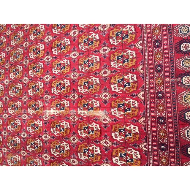 Antique Turkoman Rug: Antique Tribal Turkoman Bohkara Hand Knotted Wool Area Rug