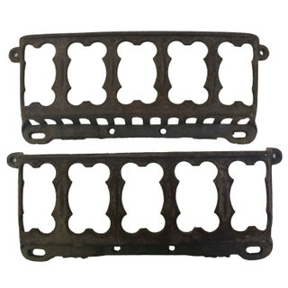 Antique Cast Iron Magazine Holders