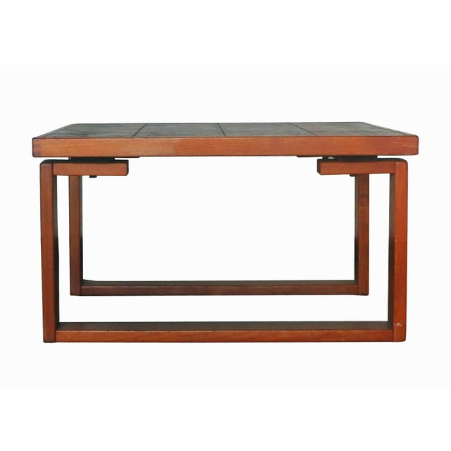Tile Top Coffee Table With Teak Base by Ox-Art - Image 2 of 6