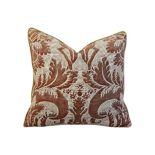 Custom Tailored Italian Mariano Fortuny Glicine Feather Down Pillow