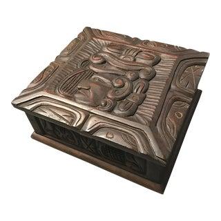 Honduran Carved Wood Humidor Box