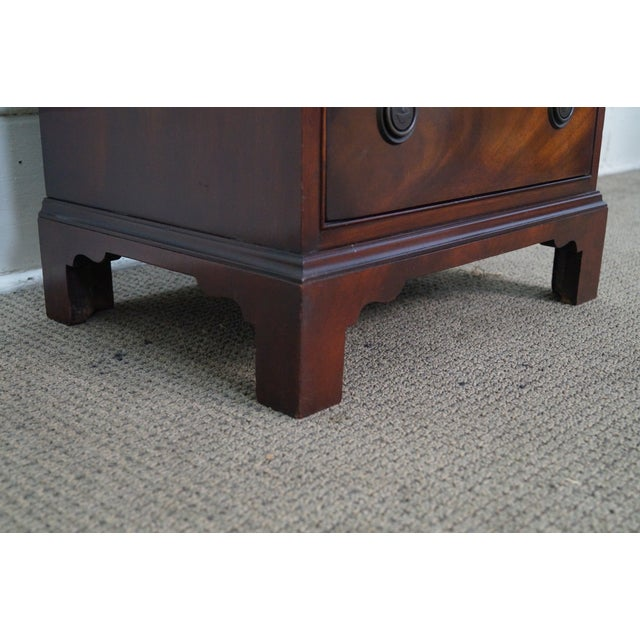 1940s Chippendale Mahogany Nightstands - Pair - Image 9 of 10