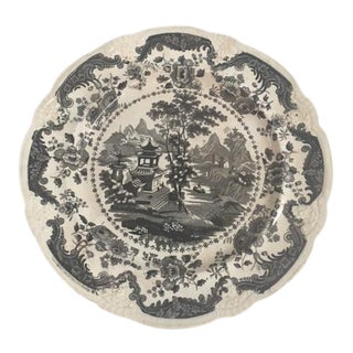 Black & White Antique Transferware Plate
