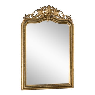 Antique French Louis Philippe Mirror with a Cartouche circa 1890