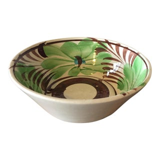 Mexican Hand Painted Pottery Bowl