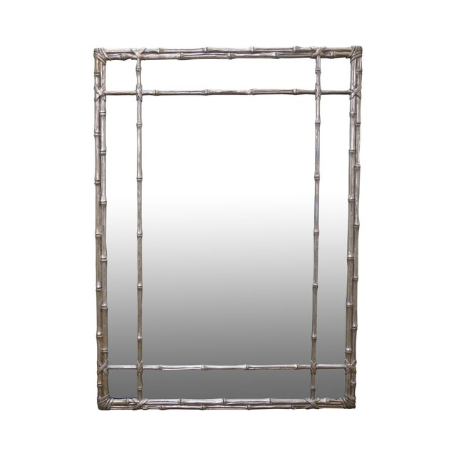 Image of Hollywood Regency Faux Bamboo Mirror