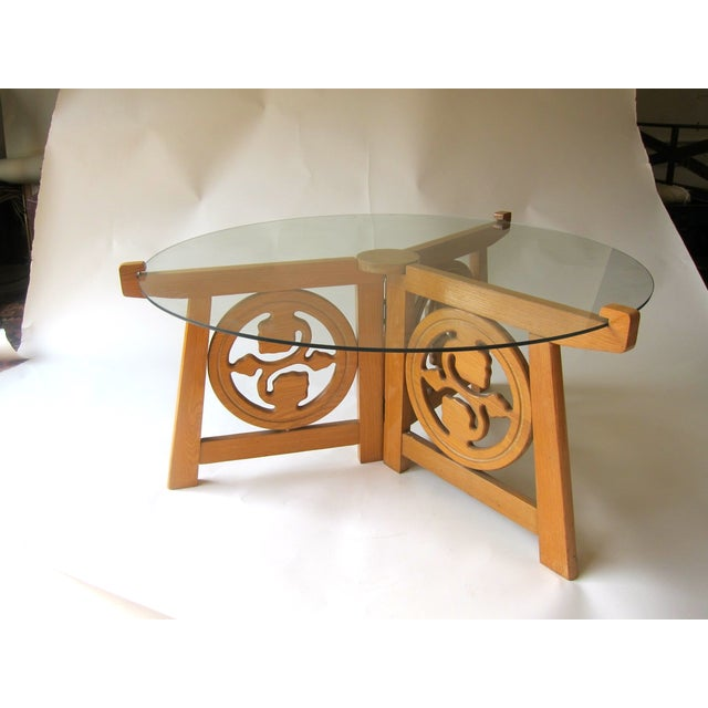 Teak & Glass Coffee Table - Image 3 of 3