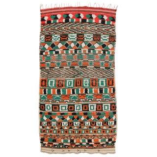 Vintage Moroccan Berber Rug, - 4′8″ × 8′4″