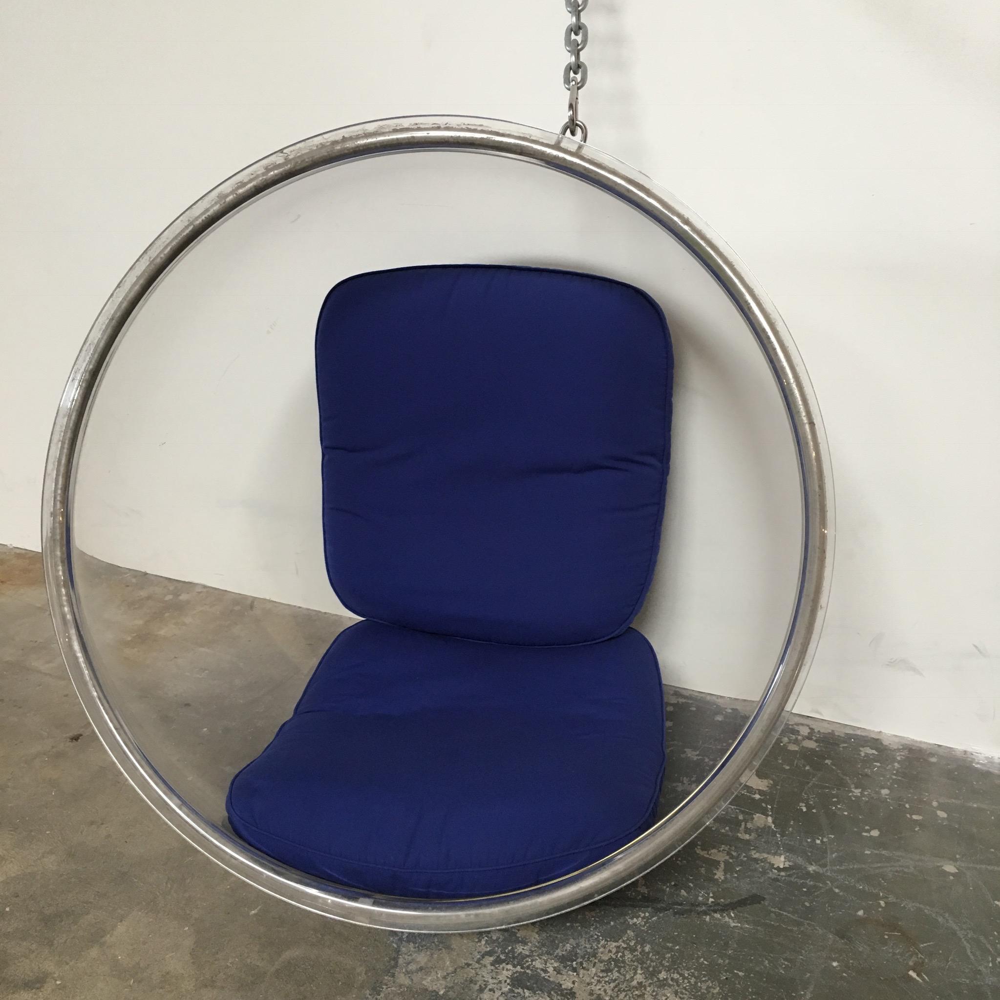 eero aarnio plushpod hanging bubble chair image 4 of 8