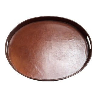 Oval Leather Tray