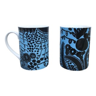 Yoyoi Kusama Late Night Chat Mugs - A Pair