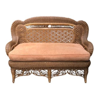 Custom Victorian Wicker Loveseat