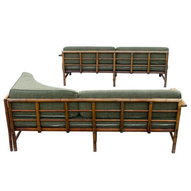 Mid-Century Rattan Sectional Sofa - Image 4 of 11