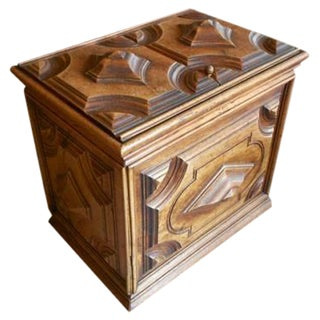 French 18th Century Carved Storage Box