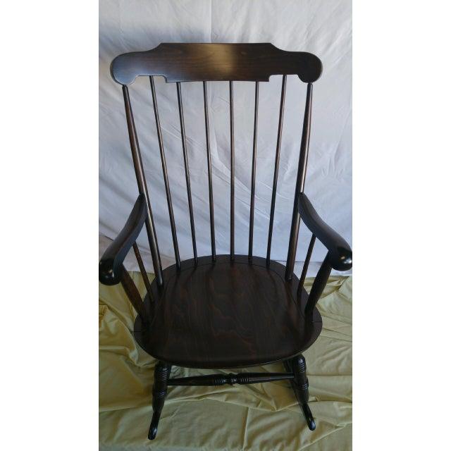Vintage Spindle Back Windsor Rocking Chair - Image 3 of 5