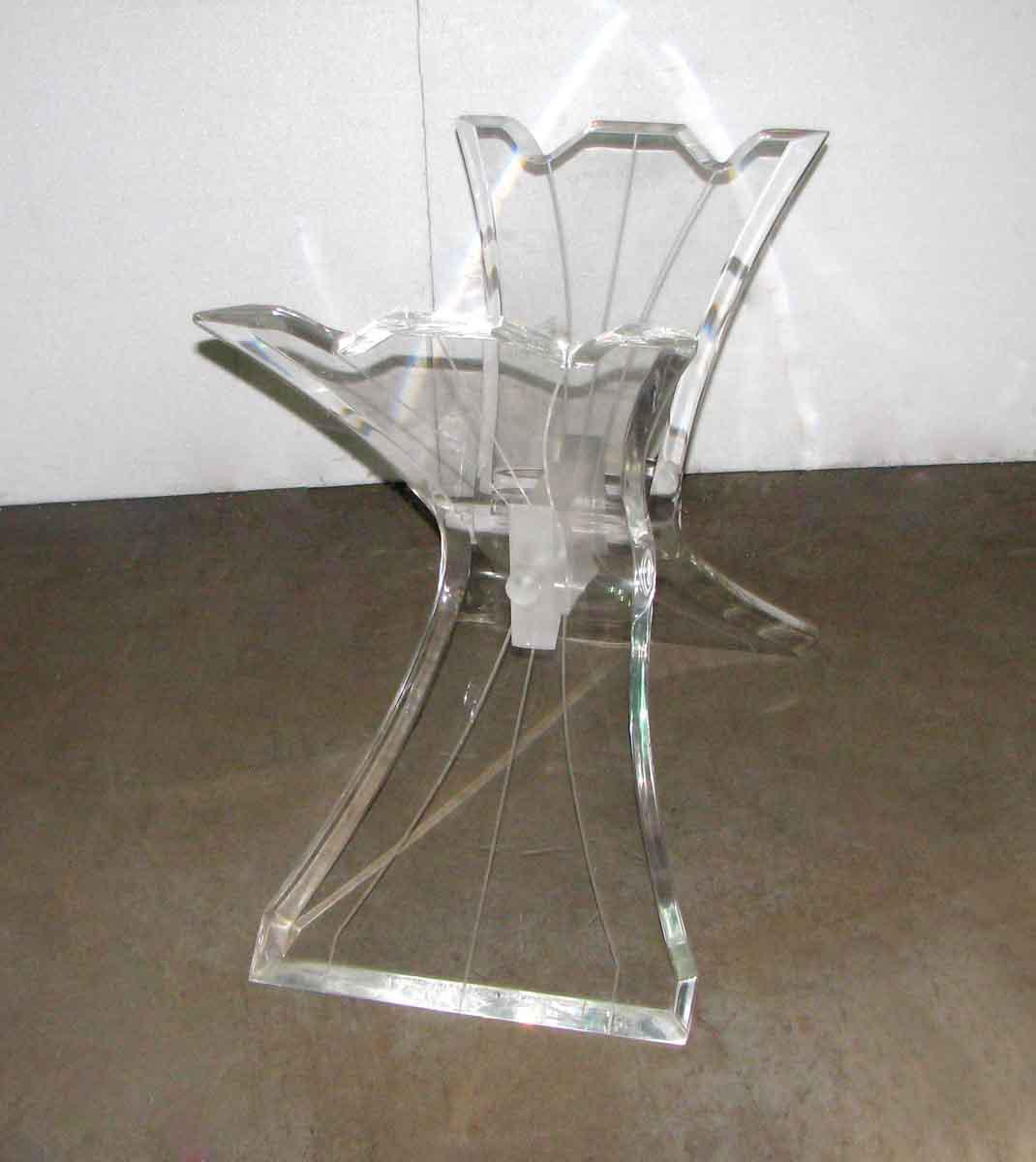Sculptural Lucite Table Base   Image 5 Of 10