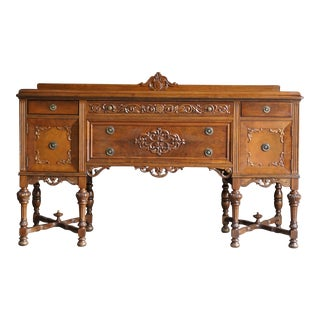 Antique Wooden Buffet Sideboard