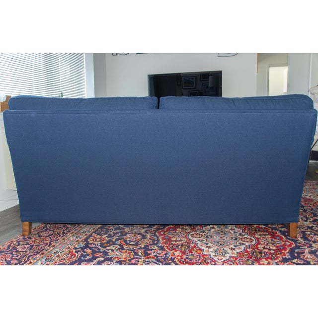 C.R. Laine Blue Custom Couch - Image 5 of 6