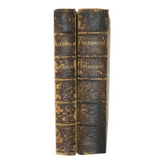 """Shakespeare's Complete Works"" Leather Bound Books - A Pair"