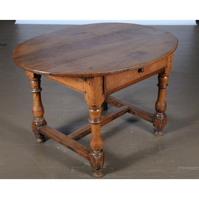 18th Century Fruitwood Oval Center Table - Image 2 of 10