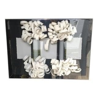 Greg Copeland Paper Sculpture in Lucite Plexiglass Frame