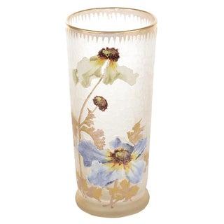 Legras Mont Joye Art Nouveau Painted Vase