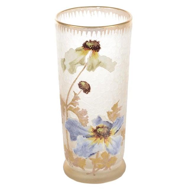 Image of Legras Mont Joye Art Nouveau Painted Vase