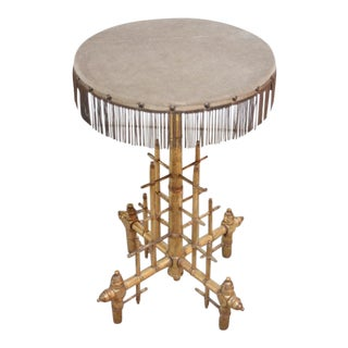 Machine Age-Style Giltwood Occasional Table