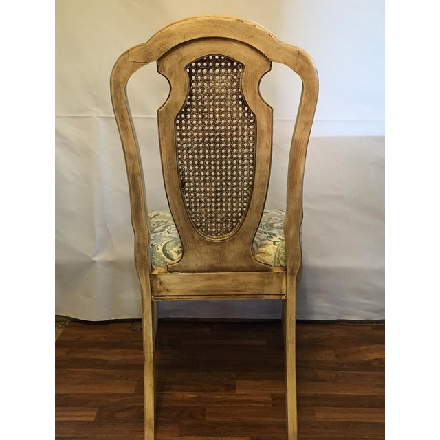 Vintage Cream Cane French Provencial Chair - Image 8 of 9