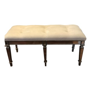 Z Gallerie Silver Tufted Bench