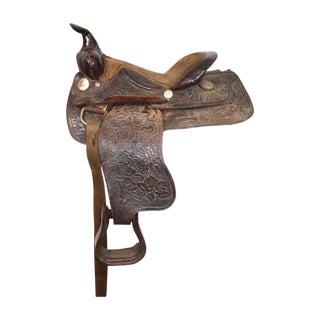 Antique Black Leather Saddle