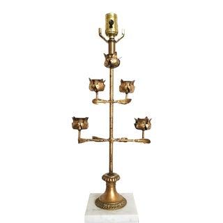Italian Gilded Candelabra Lamp