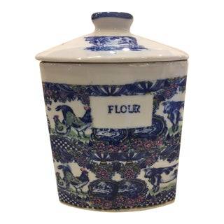 Vintage Flour Cannister- Marked Victoria Ware