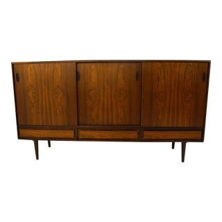 Tall Danish Modern Rosewood Credenza