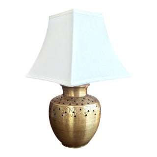 Large Brass Table Lamp