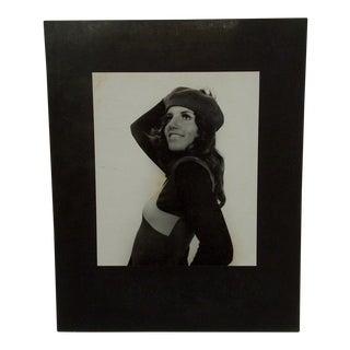 "Circa 1950 Vintage ""Beret"" Black & White Photograph"
