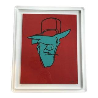 Original Graphic Art Framed in Lucite