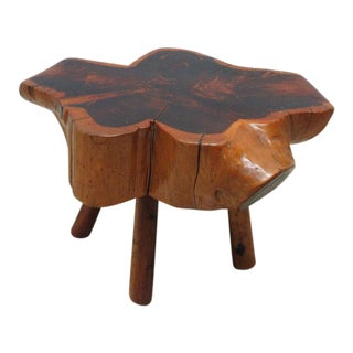 Vintage Mid-Century Free Form Live Edge Stump End Table