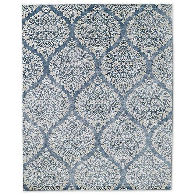 Restoration hardware blue damasco rug 6 39 x 9 39 chairish for Restoration hardware rugs on sale