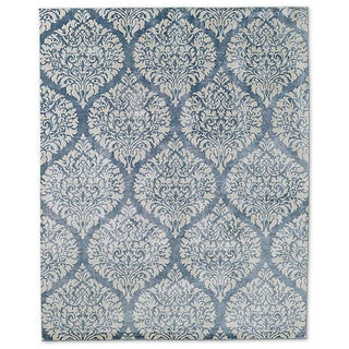 Restoration Hardware Blue Damasco Rug - 6' x 9'