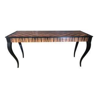 Macassar Ebony Console Table